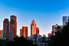 Cidade de Chongqing no por do sol Foto de Stock Royalty Free