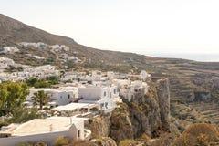 A cidade de Chora na ilha de Folegandros Fotografia de Stock