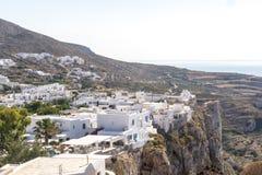 A cidade de Chora na ilha de Folegandros Fotos de Stock Royalty Free