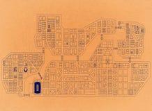 Cidade de cima - do arquiteto retro Blueprint imagem de stock