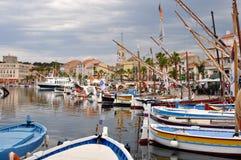 Cidade de Ciotat, França Imagens de Stock Royalty Free