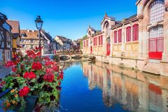 Cidade de Colmar fotos de stock royalty free