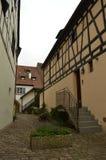 A cidade de Colmar em um dia nebuloso imagens de stock