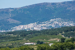Cidade de Covilhã, Cova a Dinamarca província de Beira, Beira Baixa, distrito de Castelo Branco, Portugal Imagens de Stock