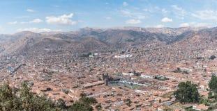 Cidade de Cusco no Adean Moutain - Peru imagem de stock