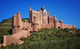 Cidade de Dalian do hotel do castelo, China foto de stock