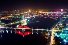 Cidade de Danang na noite Fotografia de Stock