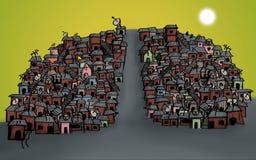 cidade de degradado em Brasil ilustração royalty free