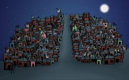 cidade de degradado em Brasil ilustração do vetor
