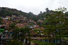 Cidade de degradado de Medellin fotos de stock royalty free