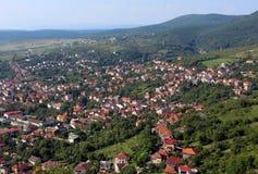Cidade de Deva, Romênia imagem de stock