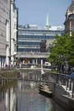 Cidade de Dinamarca, Arhus fotografia de stock royalty free