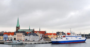 Cidade de Dinamarca, Helsingor fotos de stock