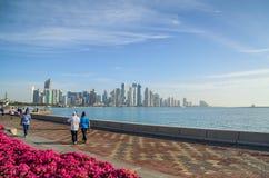 Cidade de Doha, Qatar Imagem de Stock