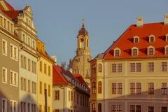 Cidade de Dresden Centro histórico Noite do outono em Dresden fotos de stock royalty free