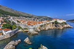 Cidade de Dubrovnik fotografia de stock royalty free