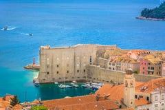 Cidade de Dubrovnik na Croácia Imagens de Stock Royalty Free