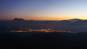 Cidade de Durango na noite Foto de Stock Royalty Free