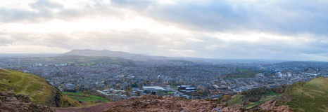 Cidade de Edimburgo do ` s Seat de Arthur Imagem de Stock Royalty Free