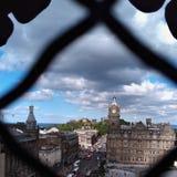 Cidade de Edimburgo, ` s Seat de Arthur fotos de stock