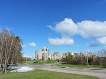 Cidade de Elektrenai, Lituânia Imagens de Stock