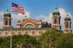 Cidade de Ellis Island Immigration Museum Jersey foto de stock royalty free