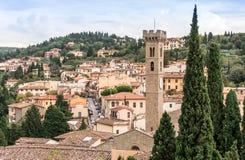 Cidade de Fiesole, Itália imagens de stock