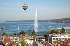 A cidade de Genebra em Suíça, em uma vista geral e aérea Foto de Stock Royalty Free