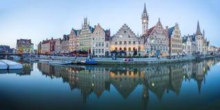 Cidade de Ghent Medival em Bélgica imagens de stock