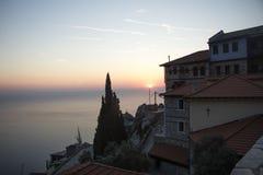 Cidade de Grécia no muntain Fotos de Stock