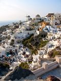 Cidade de Grécia Santorini panorâmico Imagens de Stock Royalty Free
