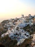 Cidade de Grécia Santorini panorâmico Imagem de Stock