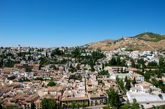 Cidade de Granada fotografia de stock royalty free