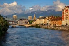 Cidade de Grenoble, França foto de stock royalty free