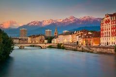Cidade de Grenoble, França fotos de stock