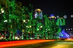 Cidade de Grozny na noite Fotografia de Stock Royalty Free