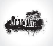 Cidade de Grunge Fotografia de Stock