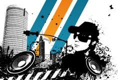 Cidade de Grunge DJ Ilustração do Vetor