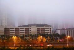 Cidade de Guiyang no dia nevoento imagem de stock royalty free