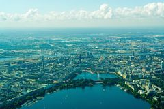 Cidade de Hamburgo Fotos de Stock Royalty Free