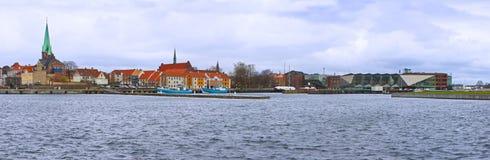 Cidade de Helsingor, o lugar onde William Shakespeare ajustou o Haml fotografia de stock