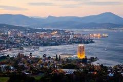 Cidade de Hobart. Tasmânia. Austrália. Imagens de Stock Royalty Free