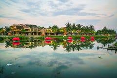 Cidade de Hoi An Ancient, Vietname em uma manhã fotos de stock
