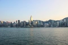 Cidade de Hong Kong, cais imagens de stock royalty free
