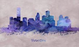 Cidade de Houston em Texas, skyline ilustração do vetor