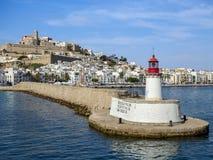 Cidade de Ibiza imagens de stock royalty free