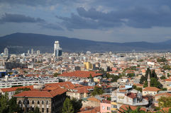 Cidade de Izmir antes da tempestade Fotografia de Stock