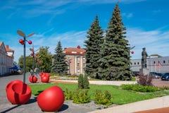 Cidade de Jõhvi Estónia fotografia de stock