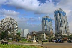 Cidade de Jakarta Foto de Stock Royalty Free