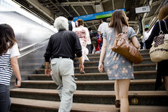 Cidade de Japão Tokyo. Uma vista em uma cidade. Metro fotografia de stock royalty free